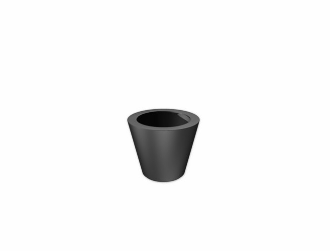 Luxe polyester plantenbak `Elegante` Ø630 x 520mm