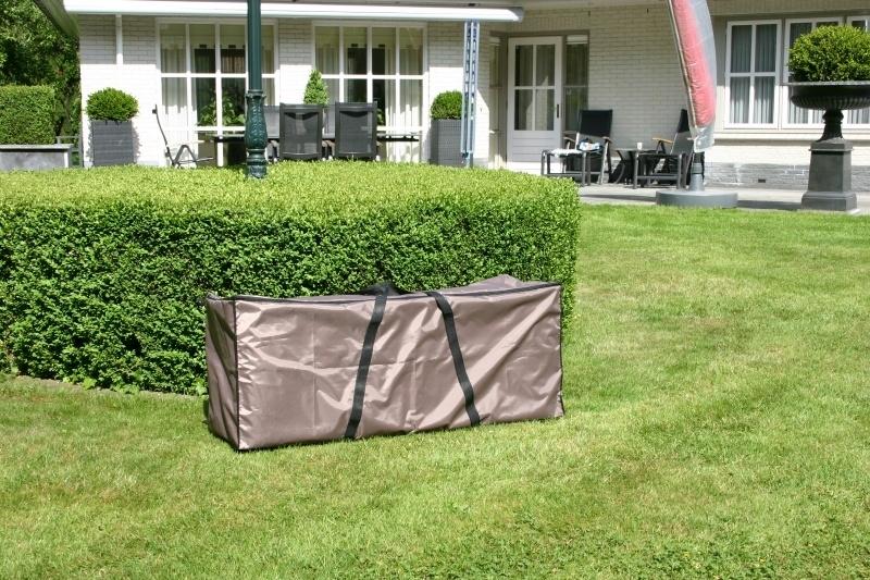 Opbergtas loungekussens `Luxe` 125 x 30 x 50 cm, kleur taupe