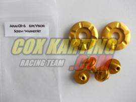 Arai schroefset CK-6 metaal goud