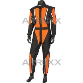 Arroxx Overall Cordura, Level 2, Xbase, Zwart-Oranje-Wit