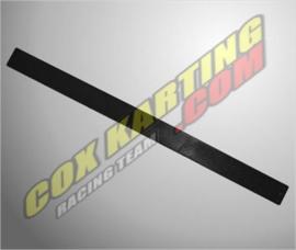 Ketting beschermer strip plastic Zwart 600x40