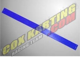 Ketting beschermer strip plastic Blauw 600x40