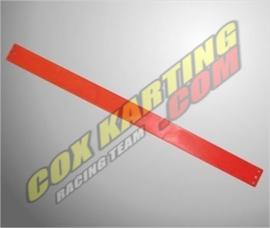 Ketting beschermer strip plastic Rood 600x40