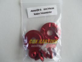 Arai schroefset CK-6 metaal rood