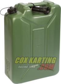 Kunststof brandstof army jerrycan 20 liter