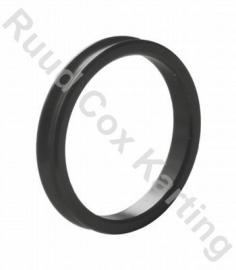 Afstelring voor 25 mm fusee 5 mm aluminium zwart