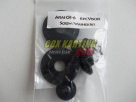 Arai schroefset CK-6 metaal zwart