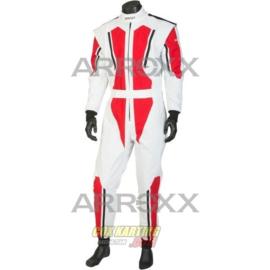 Arroxx Overall Cordura Junior, Level 2, Xbase, Wit-Rood-Zwart