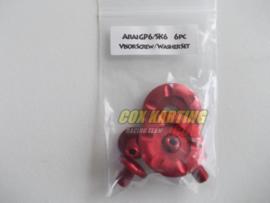 Arai schroefset GP/SK-6 metaal rood