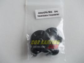 Arai schroefset GP/SK-6 metaal zwart