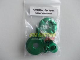 Arai schroefset CK-6 metaal groen