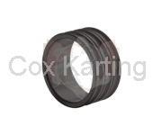 Afstelring voor 17 mm fusee 20 mm aluminium zwart