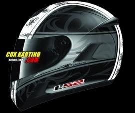 LS2 Helm FF366 Lagarto Mat Zwart Wit