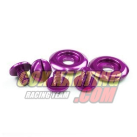 Schroevenkit Arai autosporthelm en karting kleur paars