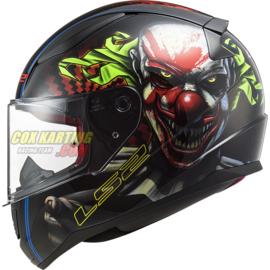 LS2 Helm FF353 Rapid Happy Dreams-Glans zwart clown (glow in the dark)
