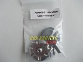 Arai schroefset CK-6 metaal zilver