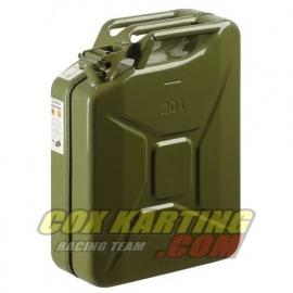 Stalen brandstof army jerrycan 20 liter