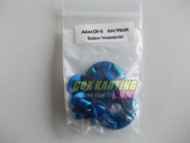 Arai schroefset CK-6 metaal blauw