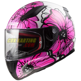 LS2 Helm FF353 Rapid Poppies