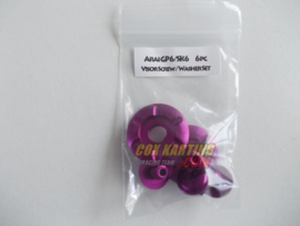 Arai schroefset GP/SK-6 metaal paars/lila