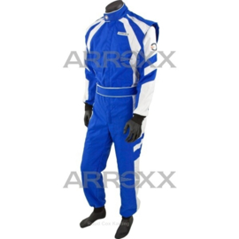 Arroxx Overall Cordura, Level 2, Xbase, Blauw-Wit CIK-FIA