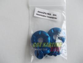 Arai schroefset GP/SK-6 metaal blauw
