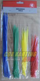 Asoortiment Kabelbinders 4 Kleuren 100 Delig