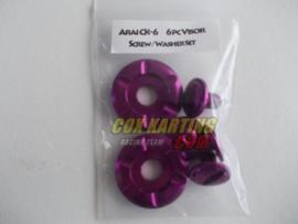 Arai schroefset CK-6 metaal paars/lila