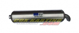 Elto Uitlaat 108 db. Aluminium – curved end