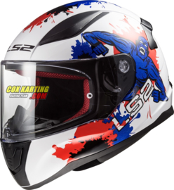 LS2 helm FF353 Rapid Mini Monster - Glans wit blauw rood L