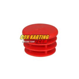 Dop voor buis 30 mm rood