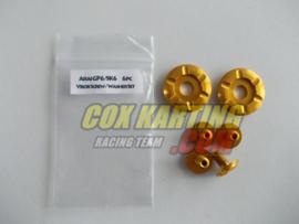 Arai schroefset GP/SK-6 metaal goud