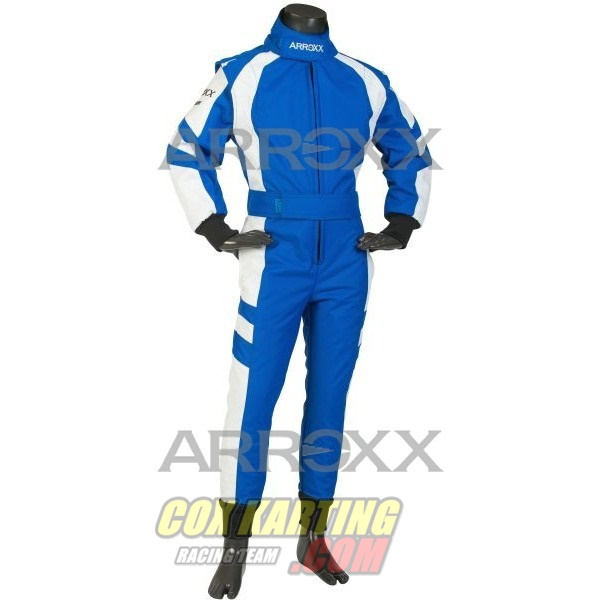 Arroxx Overall Cordura Junior, Level 2, Xbase, Blauw-Wit