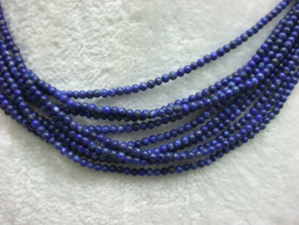 Nat. Lapis Lazuli snoer 2 mm Nr109)*