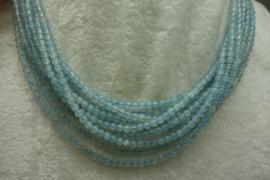 Aquamarijn snoer AA-kwal. transparant  4 mm (B14)