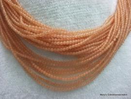 Oranje-Rood Aventurijn snoertje facet 2 mm*