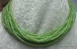 Peridot snoer facet buttons  2,5-3 mm*