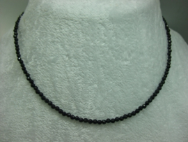 Black Spinel ketting facet 3 mm