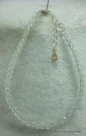 Bergkristal armbandje facet rondel 3x4 mm (nr19).