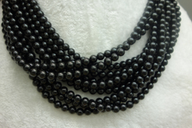Zwart Spinelsnoer 6 mm Nr29)