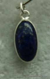 Lapis Lazuli hangertje ovaal in zilver