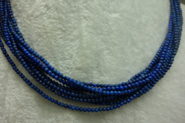 Nat. Lapis Lazuli snoer 2 mm Nr200).