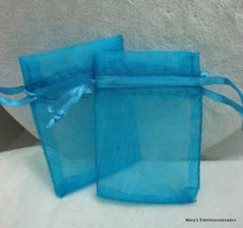 Cadeauzakje in doorzichtige stof 5 x 7 mm (2 stuks)