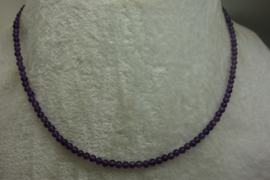 Amethist ketting 3 mm - 46 cm vv