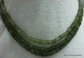 Toermalijn snoer groen facet rondellen 4 mm F27b*