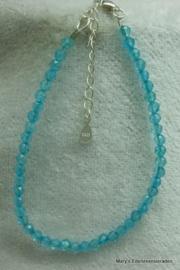 Blauw Topaas armbandje facet 3,5 mm (nr8).