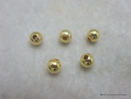Vermeil kraal 6 mm (3 stuks)