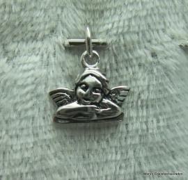Zilveren hangertje  Add-on, engeltje
