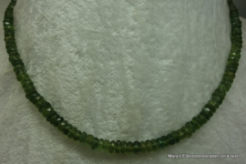 Groene Toermalijn ketting  facet rondellen1A.vv