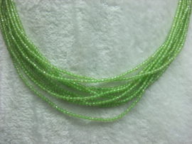 Peridot snoer facet 2 mm Nr134)*